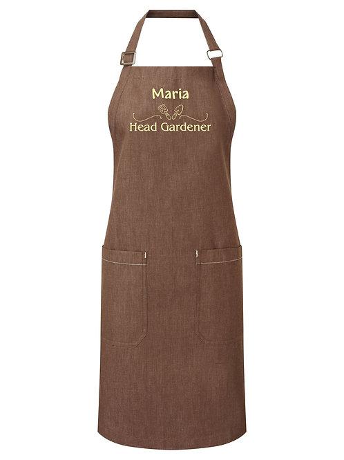Head gardener organic cotton denim apron