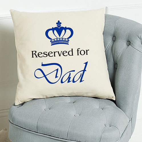 'Reserved for' personalised cushion