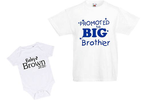New baby announcement t-shirt pack