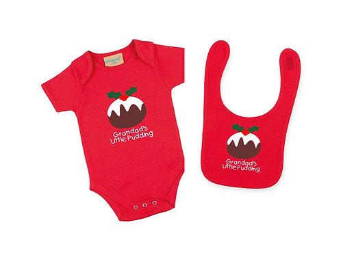 'Christmas pudding' baby gift set