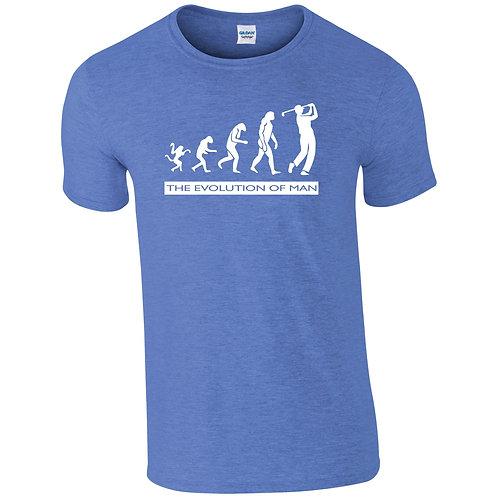 Evolution of man T-shirt Golf