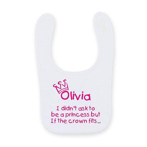 Prince / Princess printed bib