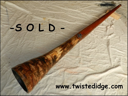 SOLD Hybrid Didgeridoo in Agave & Mahogany 042