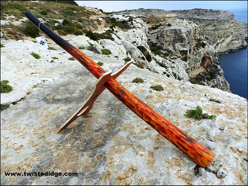 - SOLD - Flaming Didgeridoo No. 033