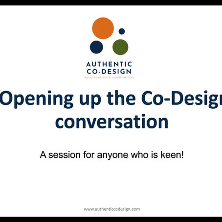Watch the October Authentic Co-design Webinar!