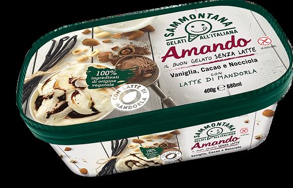 Amando   Vanilla + Cocoa + Hazelnut Cream - 400g