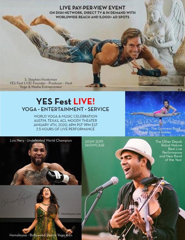 Y.E.S. Fest LIVE! YOGA+ENTERTAINMENT+SER