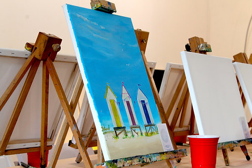 Paints for The Beach Huts Painting
