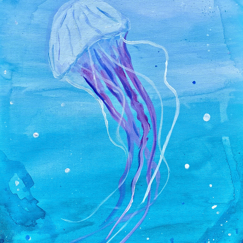 Paint a jellyfish - Online painting event