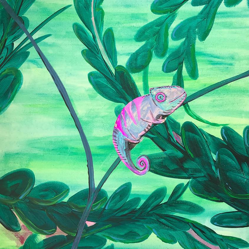 Paint a chameleon  - Online event