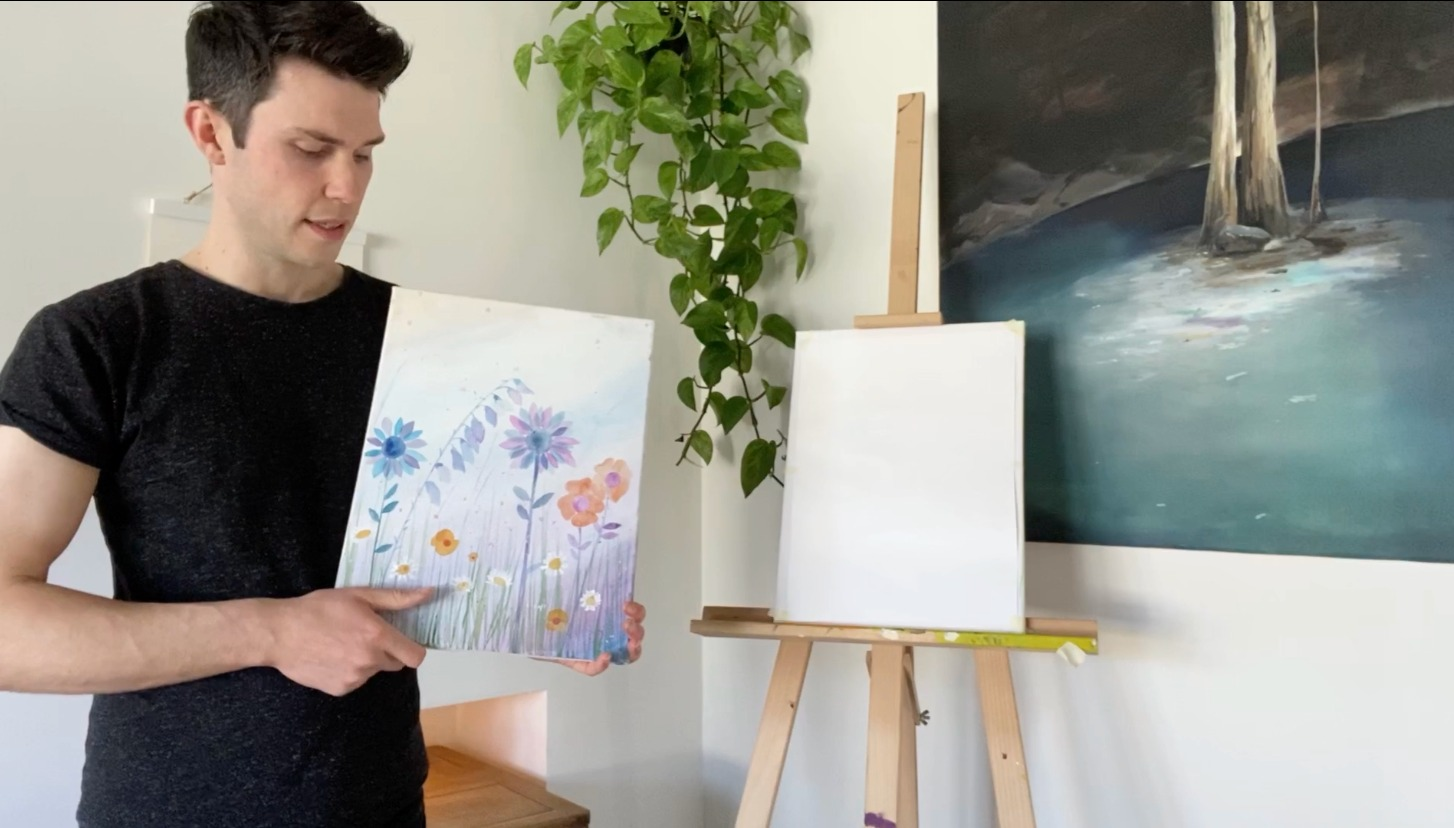 Live online painting sessions in our Facebook group: The Studio