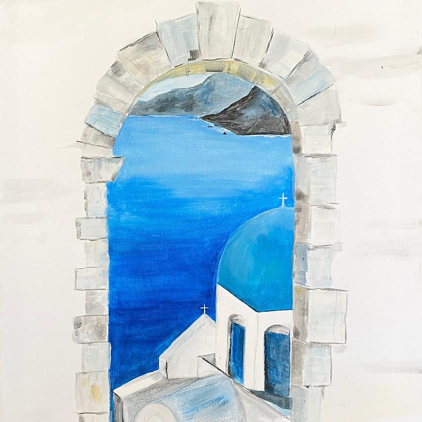 Paint Santorini  - Online event