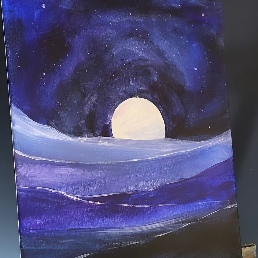 Midnight dreamscape  - Online painting event