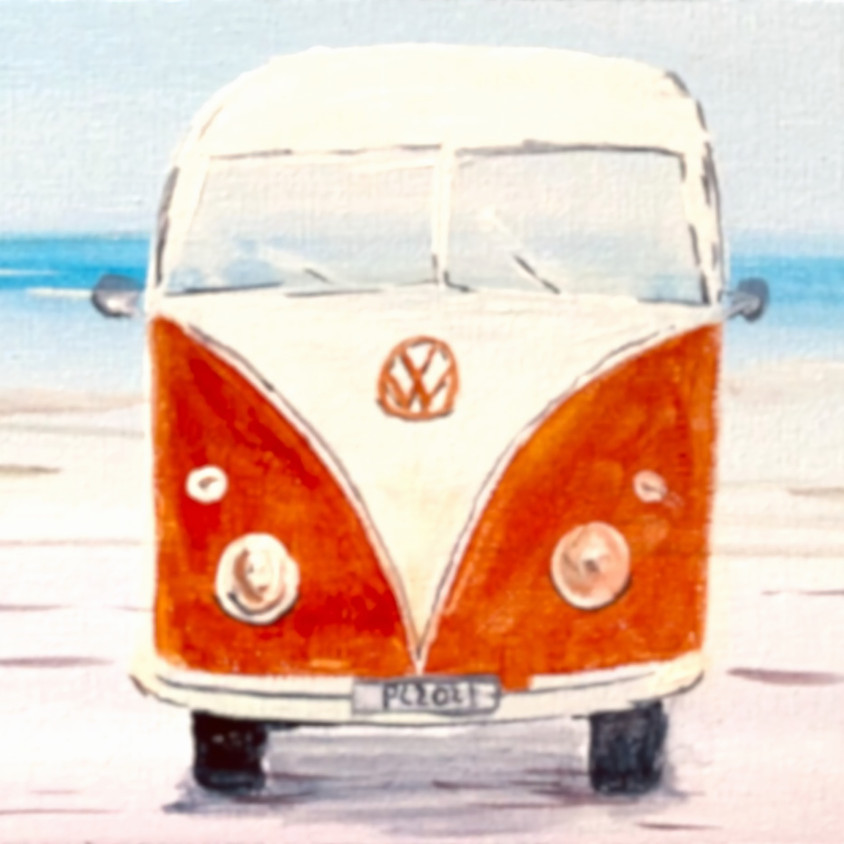 VW Camper in Miami - Online painting event