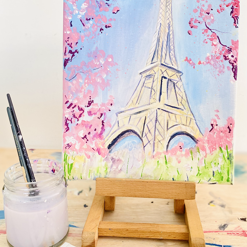 Paint Paris in blossom - Online painting event
