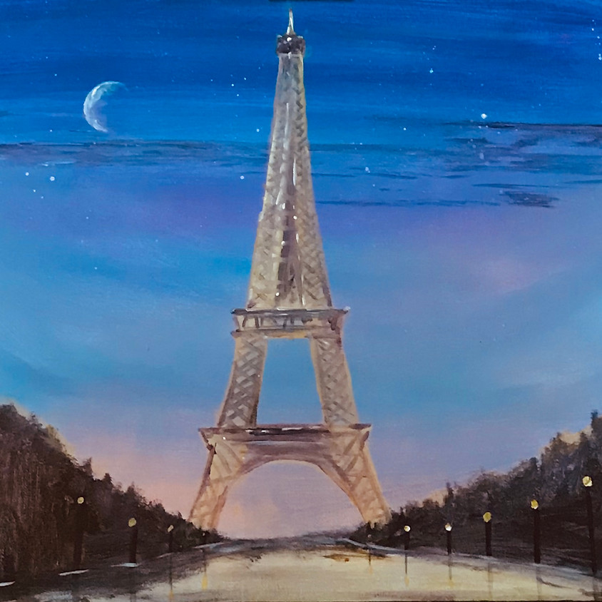 Paint the Eiffel Tower  - Online event