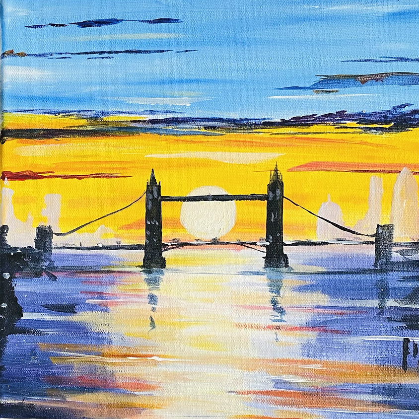 Paint London's Tower Bridge -Online painting event