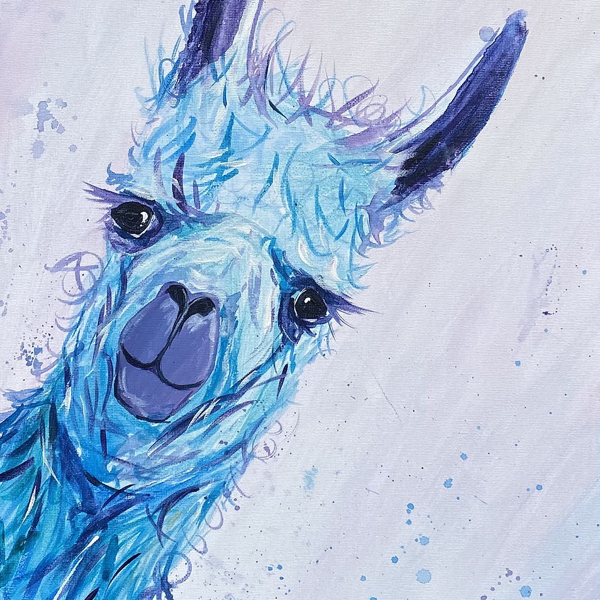 Paint a llama - Online painting event