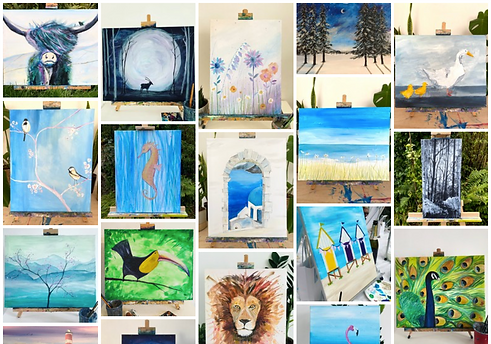a selection of paintings we have taught.
