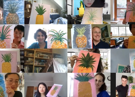 How to set up a virtual paint and sip party.