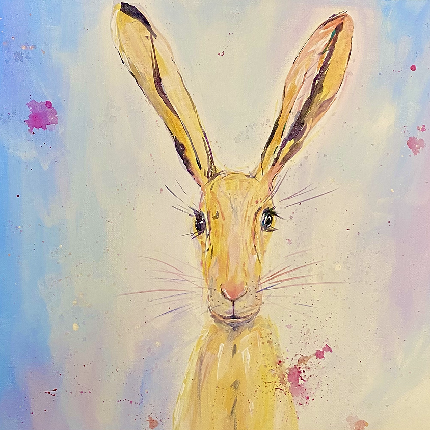 Paint a hare  - Online painting event