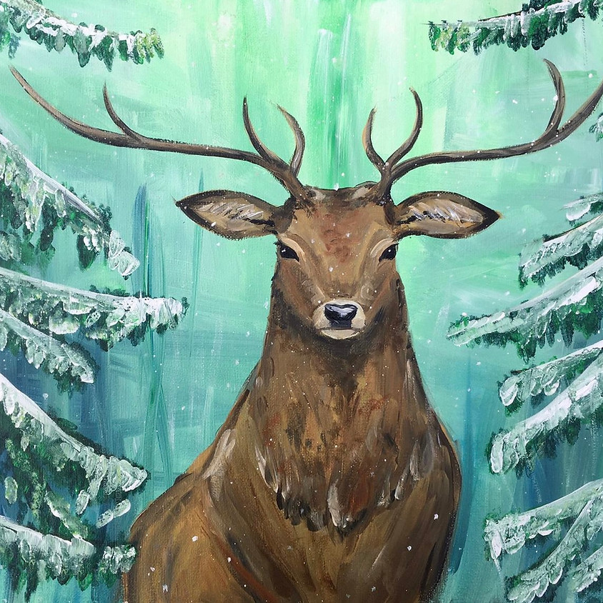 Paint a snowy stag - Online event