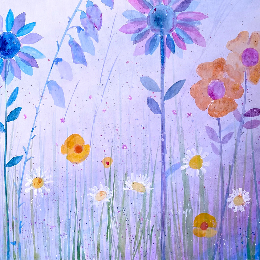 Paint a summer meadow  - Online painting event