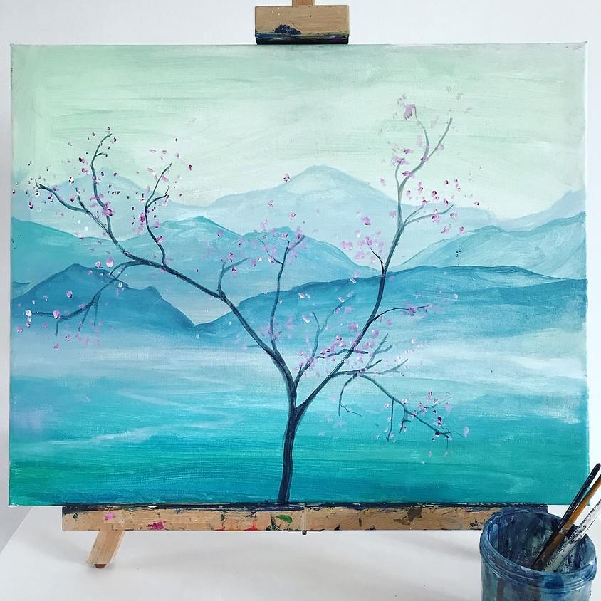 Springtime blossom- Online painting event
