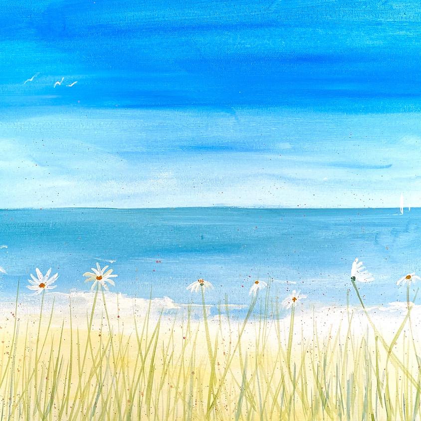 Paint a flowery beach  - Online event