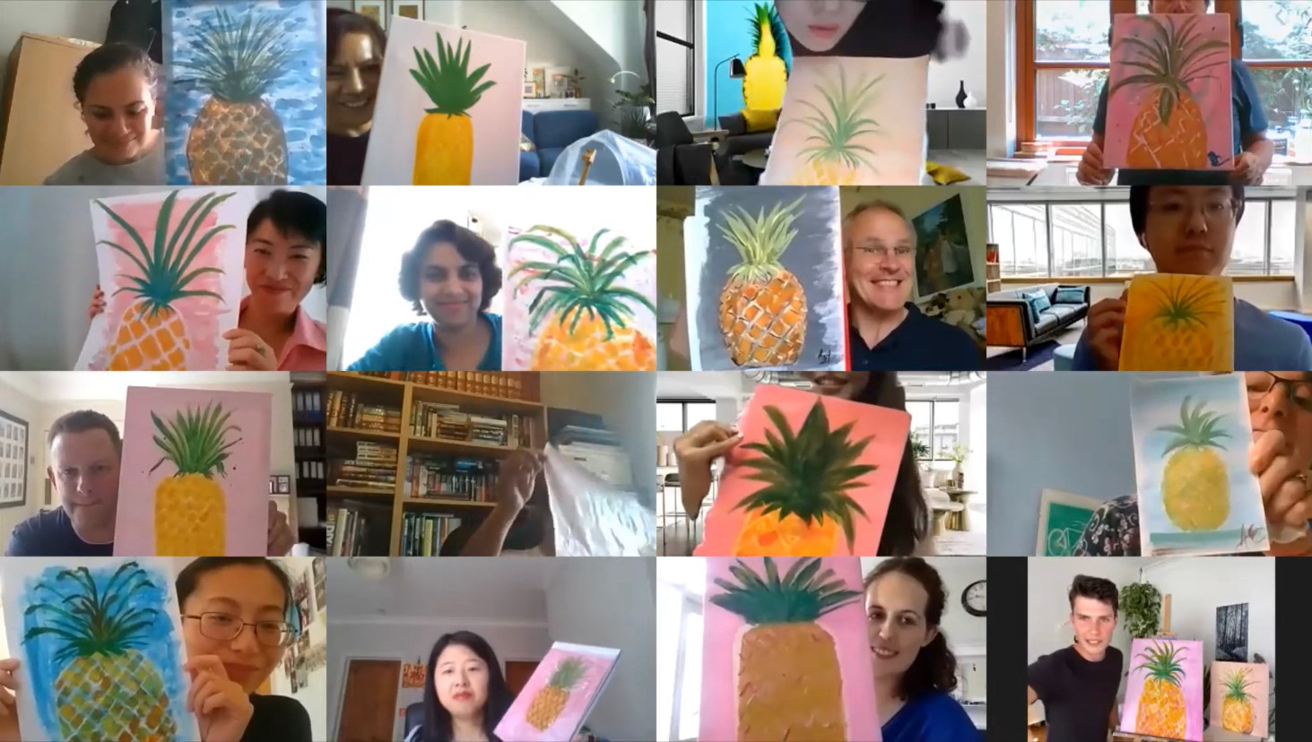 One of our virtual painting events.