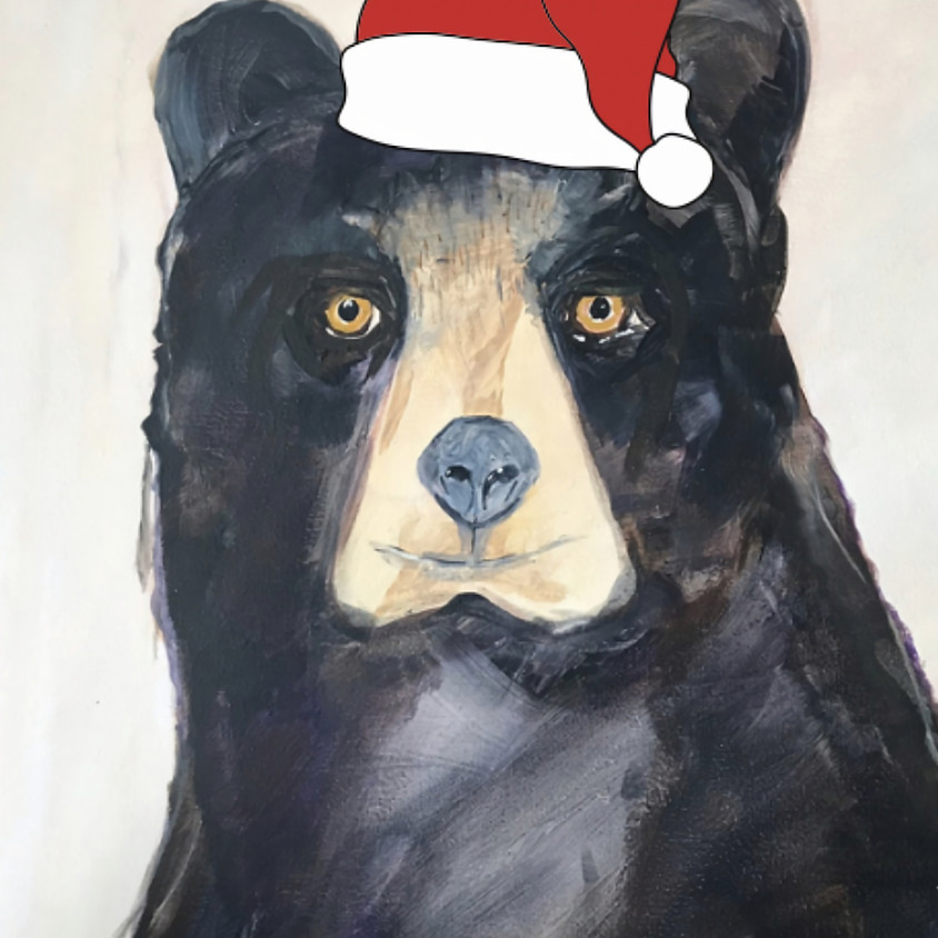 Paint a Christmas bear - Online event