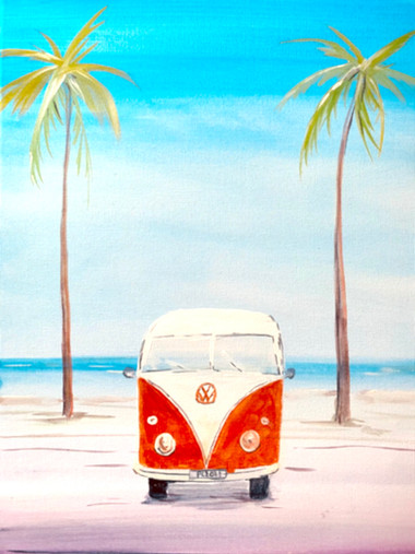 VW camper van in Miami