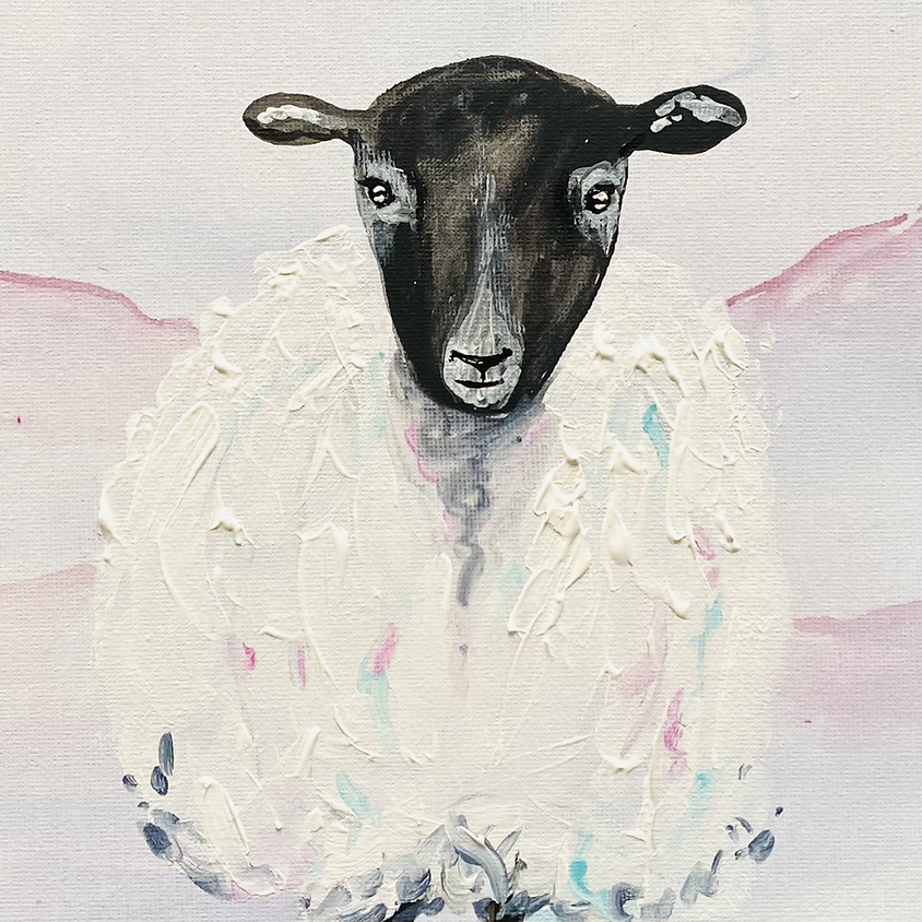 Paint a sheep - Online painting event