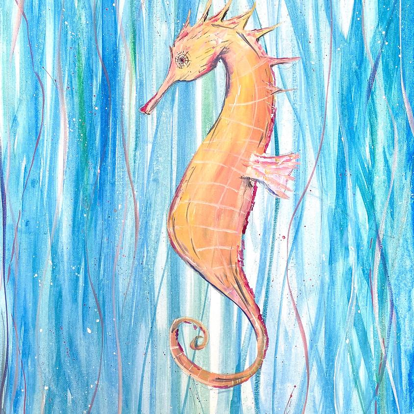 Paint a colourful seahorse  - Online event