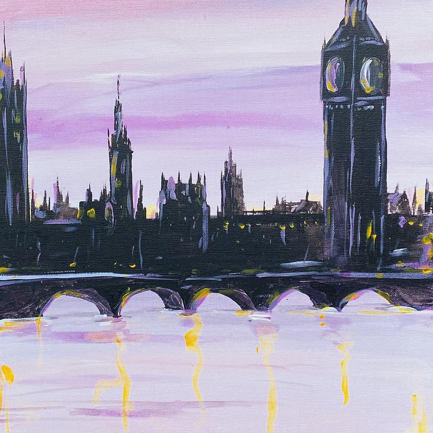 Paint a London skyline - Online painting event