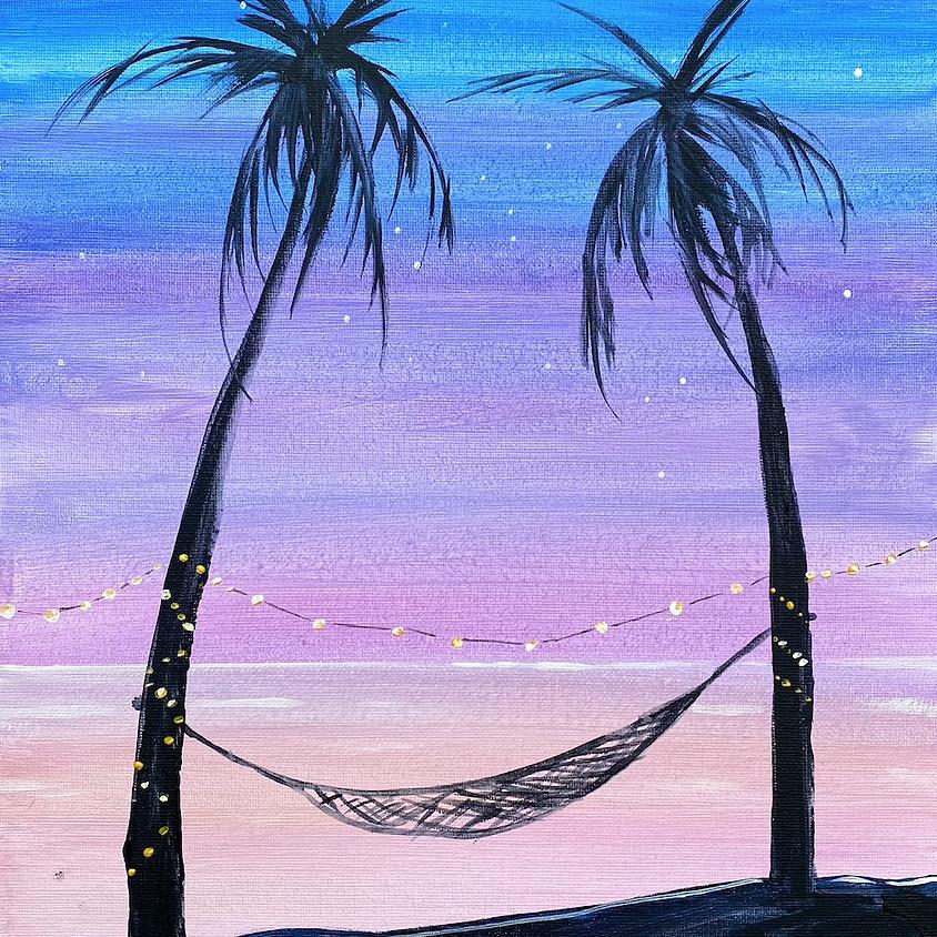 Paint a tropical escape - Online painting event