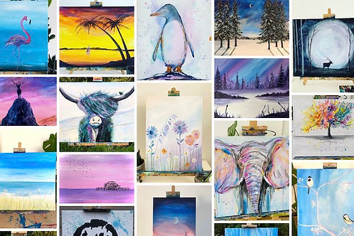 Access to live painting tutorials and on demand