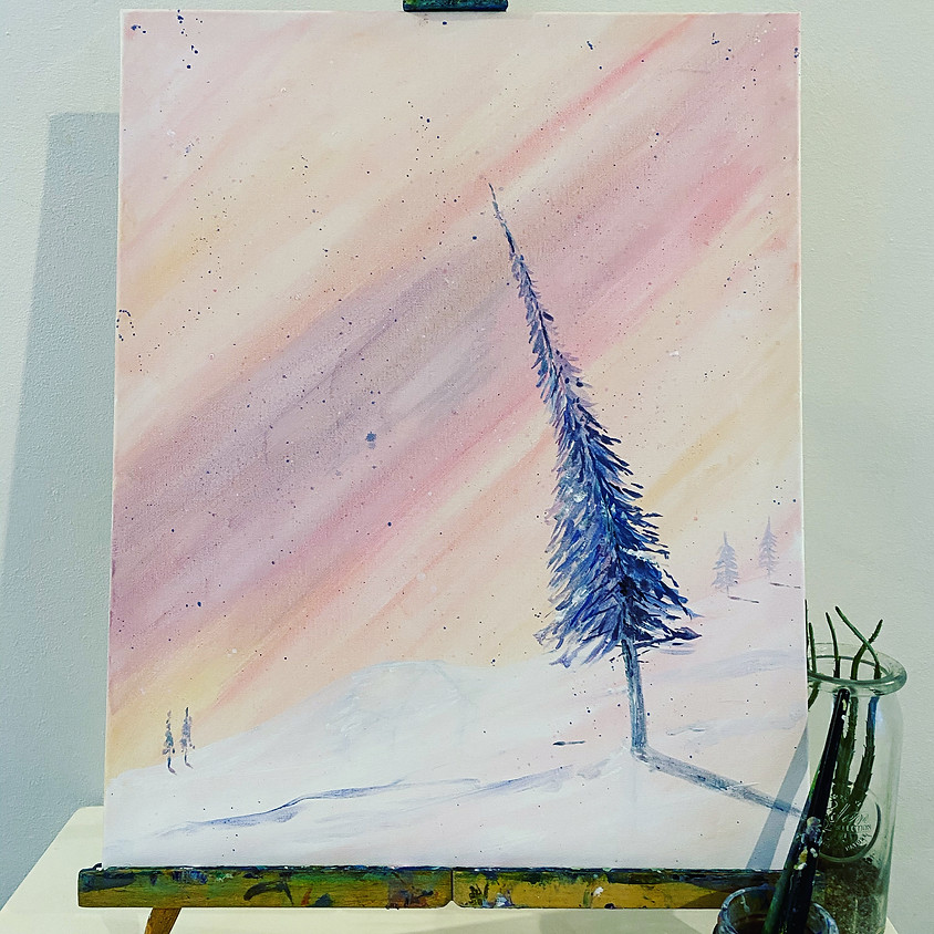 Paint a nordic sunset  - Online event