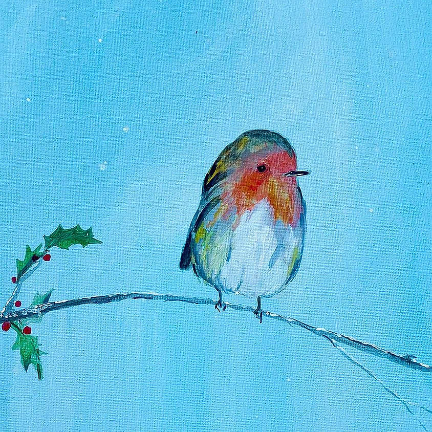Paint a Christmas robin  - Online event