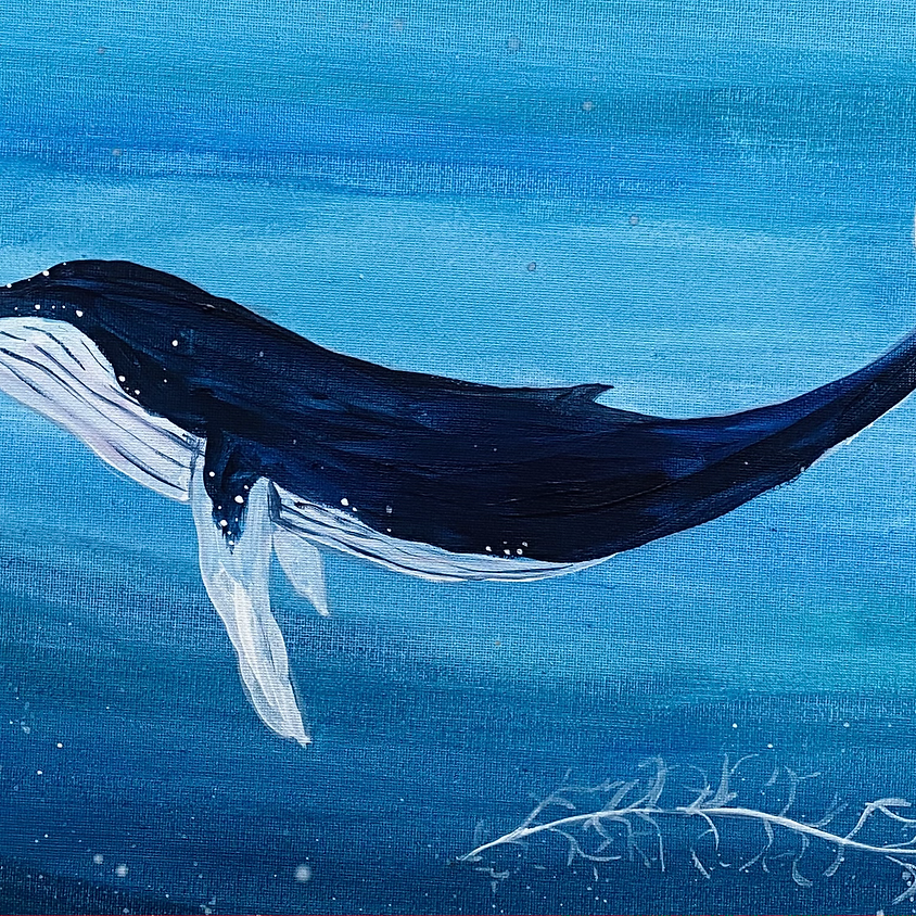Humpback whale  - Online painting event