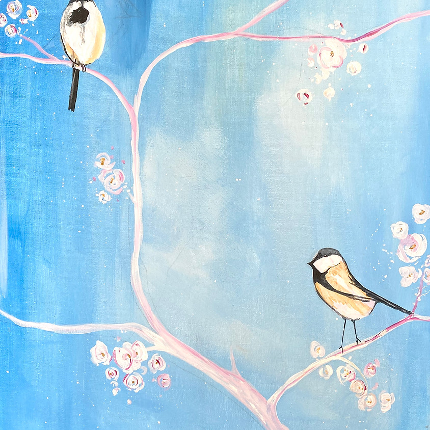 Paint a springtime scene  - Online event