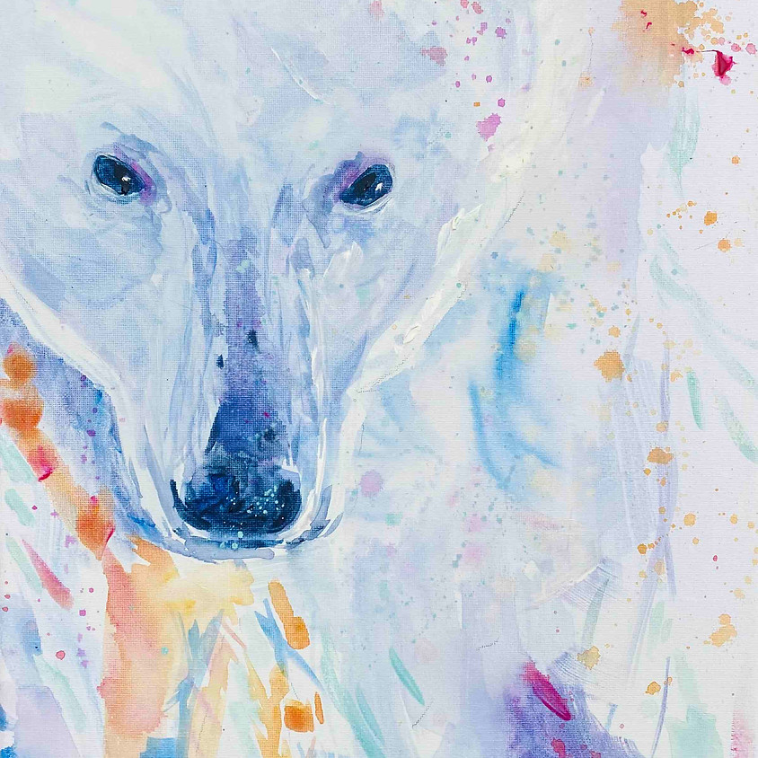 Paint a polar bear - Online painting event
