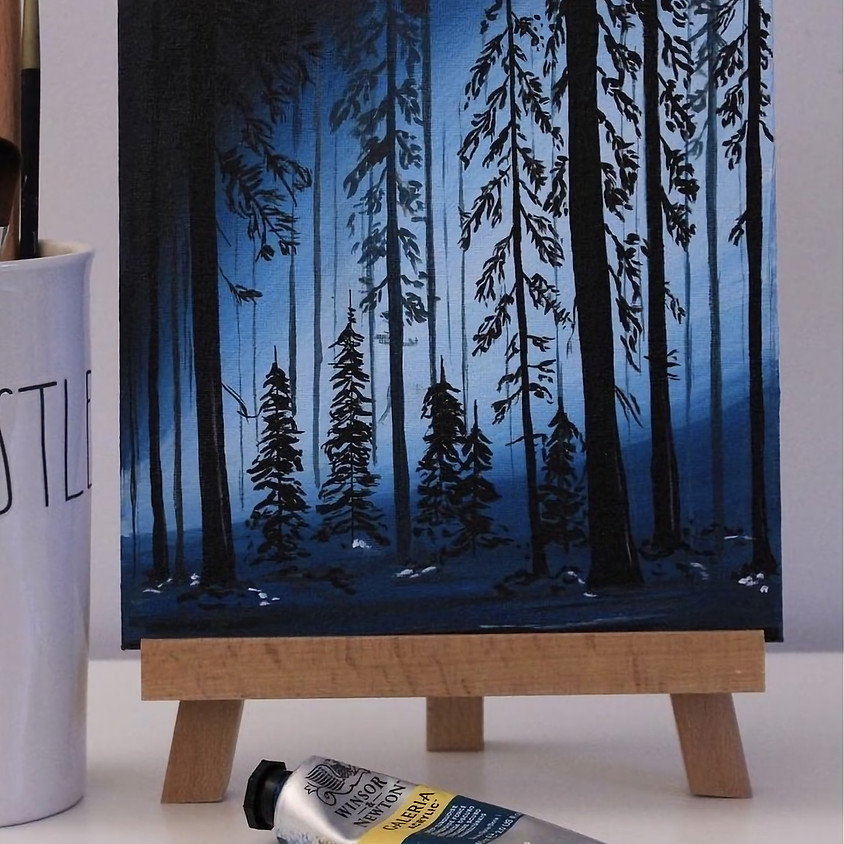 Paint a peaceful forest - Online painting event