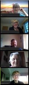 Rosenethe Singers Zoom meeting in lockdo