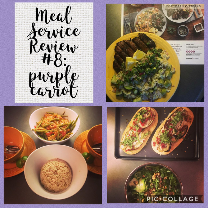 Meal Service Review #8: Purple Carrot