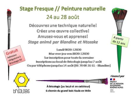 Stage fresque / peinture naturelle 24 au 28 août (gratuit)