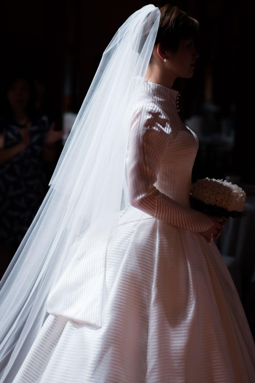 先輩花嫁さんのファッションショー1