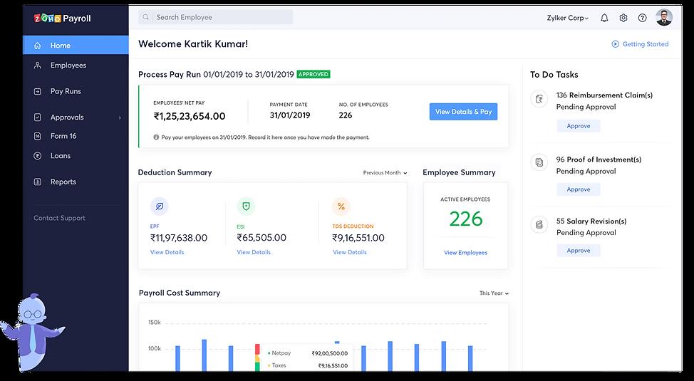 Zoho Payroll implementation - integration Partner