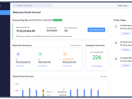 Zoho Payroll - Pay On time, Everytime..