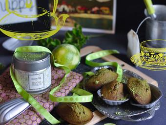 Madeleine au thé Matcha et citron vert